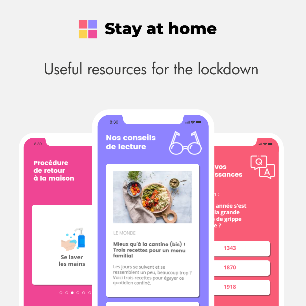 "App mobile ""Stay At Home"" [Template]"