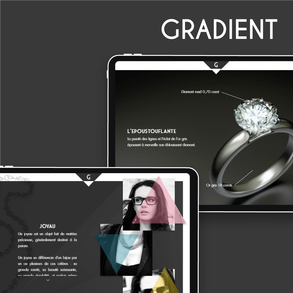 Catalogue Gradient pour iPad [Template]