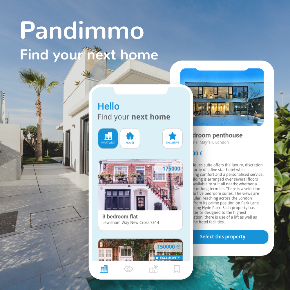 App Pandimmo Immobilier